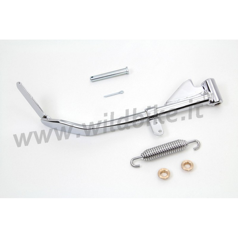 CAVALLETTO LATERALE IN KIT CROMATO PER HARLEY DAVIDSON XL