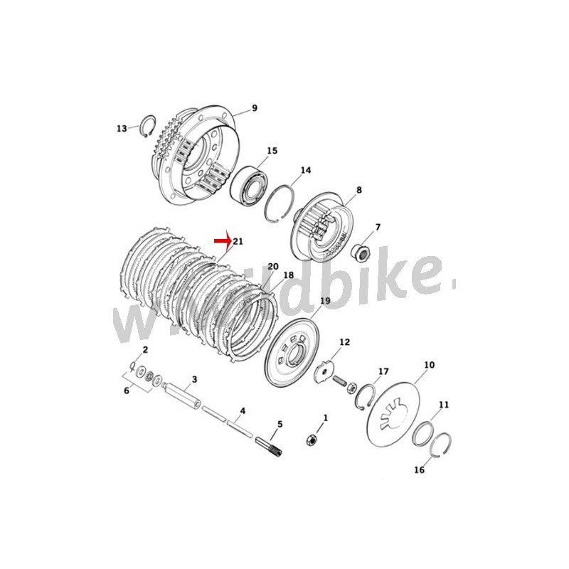 PLATE SPRINGS CLUTCH OEM HD 37977-90 FOR HARLEY DAVIDSON