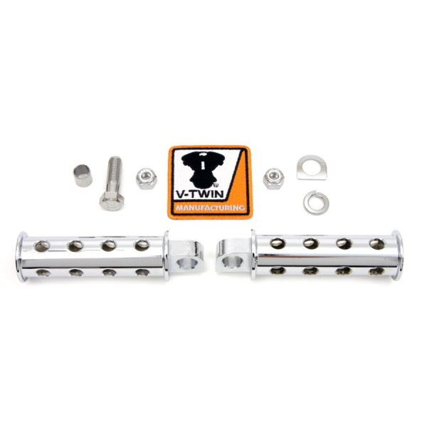 FOOTPEGS COMBAT SHOOTER SILENCER CHROME FOR HARLEY DAVIDSON
