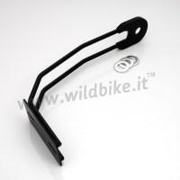 REAR TIRE LICENSE PLATE HOLDER BLACK FOR MOTORCYCLE CUSTOM ...