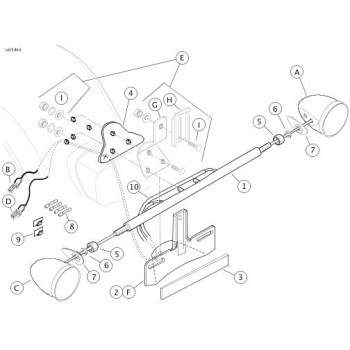 TURN SIGNAL RELOCATION KIT REPL. OEM 68732-02A HARLEY
