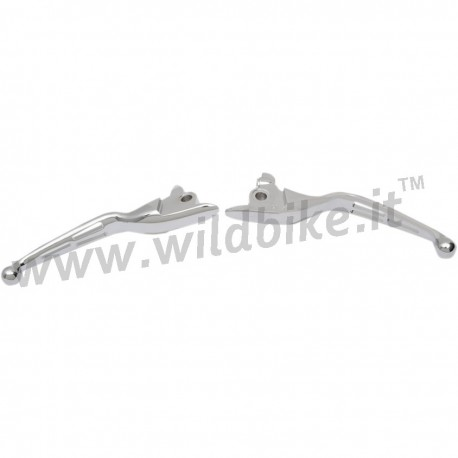 SLOTTED WIDE BLADE LEVER SETS CHROME FOR FOR HARLEY