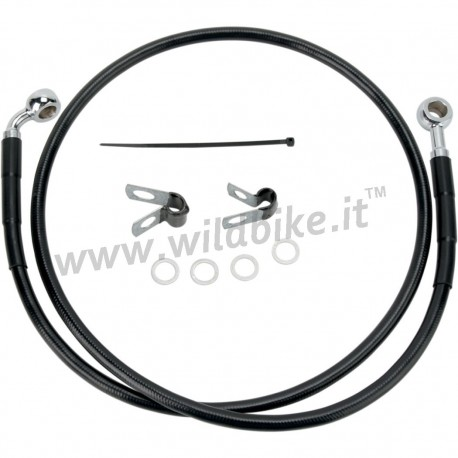 CABLE STANDARD BLACK STAINLESS STEEL LINE KITS FRONT BRAKE