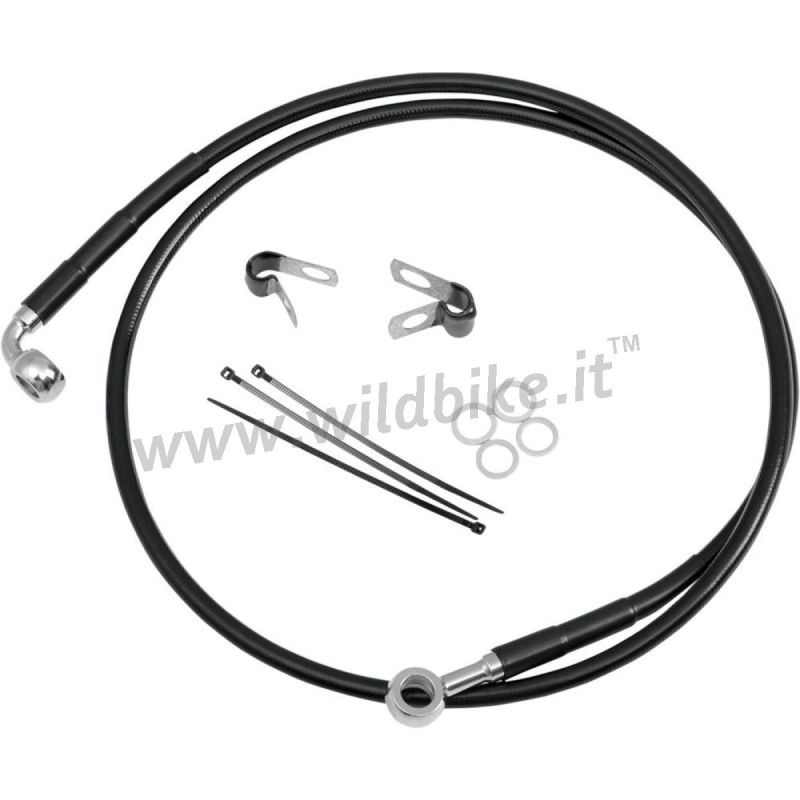 BLACK CABLE STANDARD STAINLESS STEEL LINE KITS FRONT BRAKE