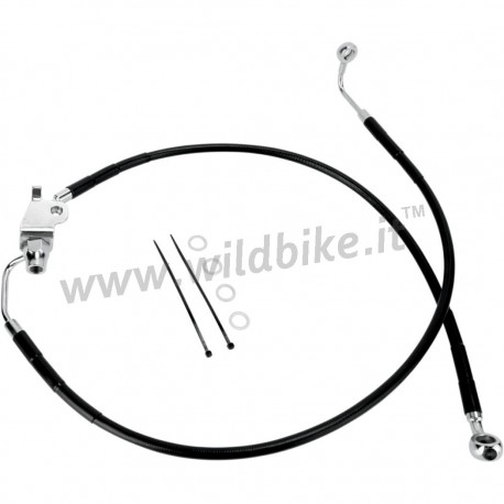 BLACK CABLE STANDARD STAINLESS STEEL LINE KITS REAR BRAKE