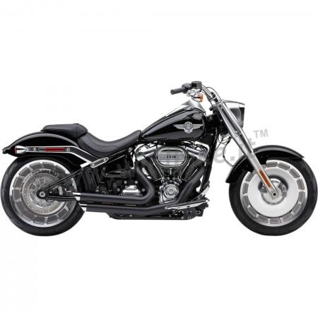 exhaust cobra speedster 2into2 slashdown black harley davidson flsb sport glide m eight