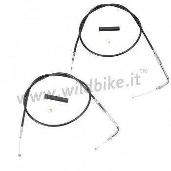 THROTTLE CABLE acier personnel navigant pour HARLEY XL