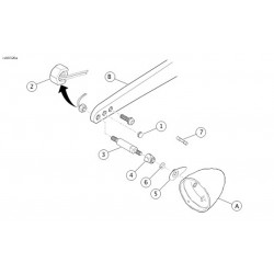REAR CHROME TURN SIGNAL RELOCATION KIT OEM 53959-06 FOR