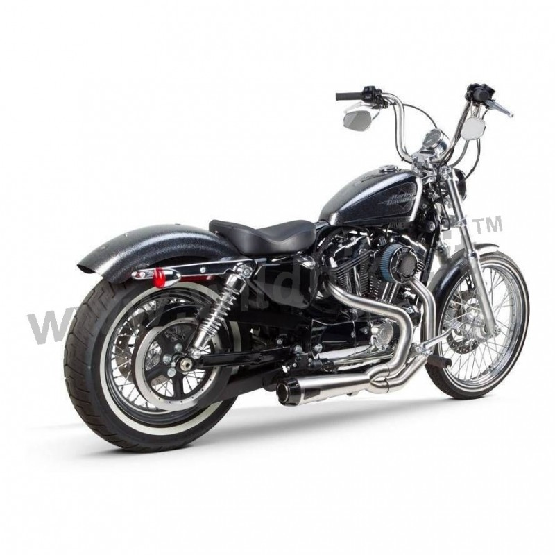 exhaust system 2into1 tbr competition inox for harley davidson xl sportster 14 20