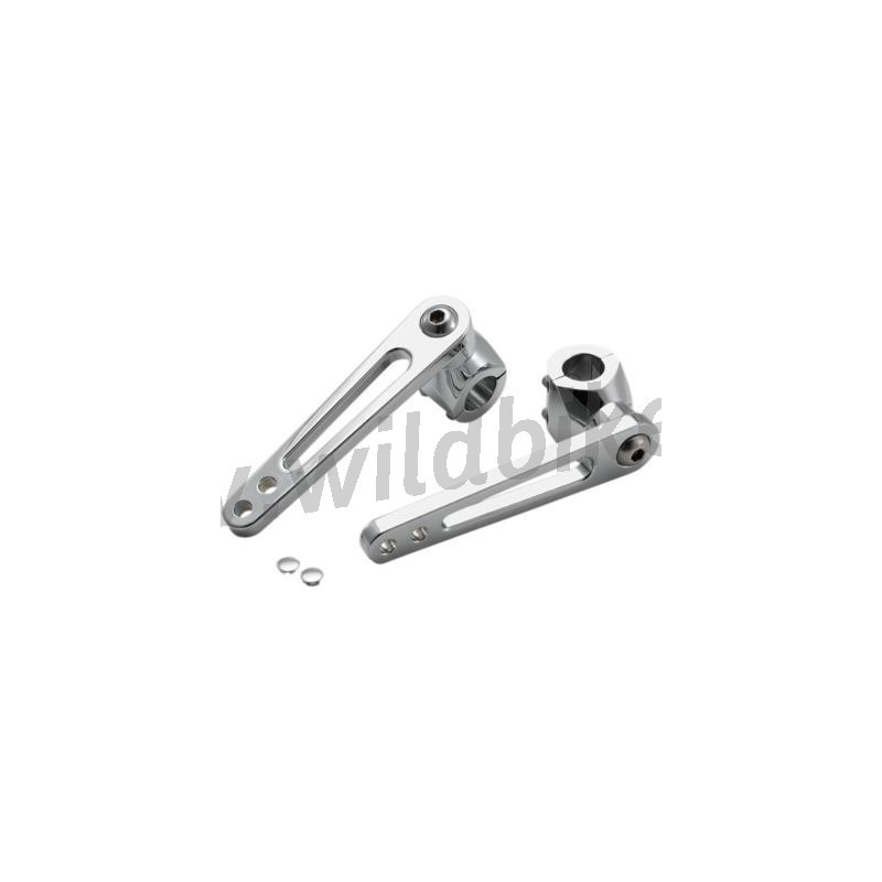 BILLET CLAMP CHROME FOOTPEG MOUNTS for PARAMOTOR FROM 1.25