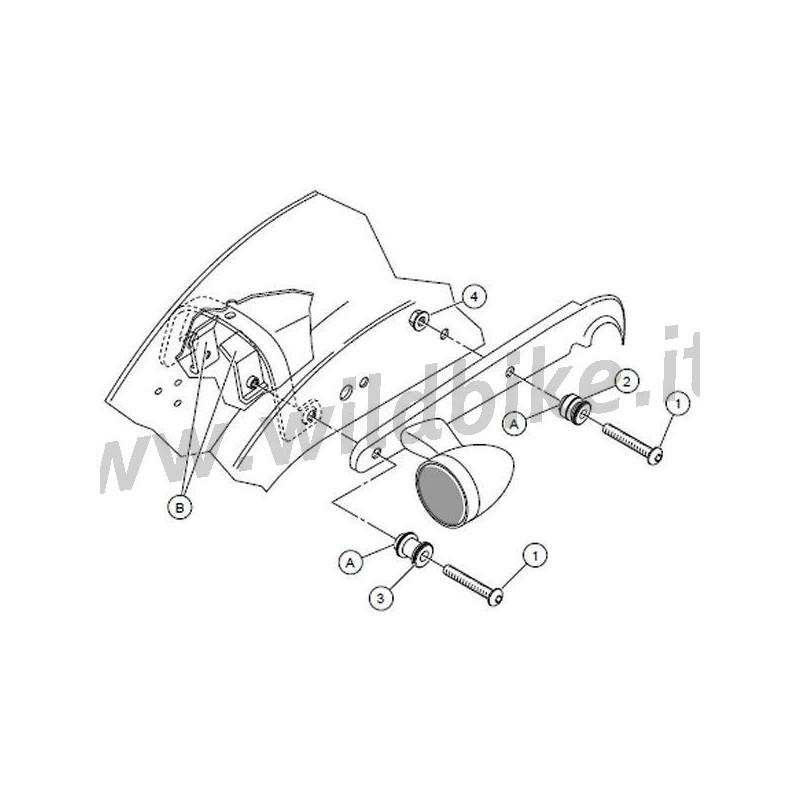 Einhaken-KIT Seitenplatten SISSYBAR HARLEY DAVIDSON XL