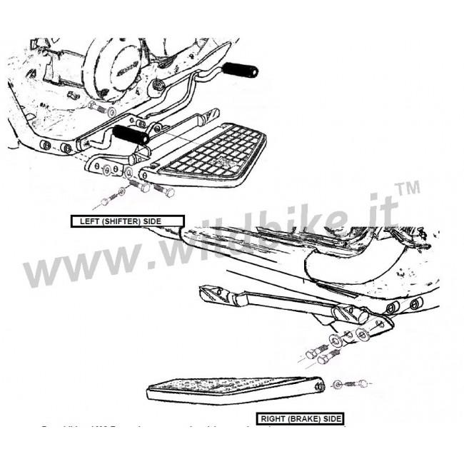 PEDANE COMFORT C/COMANDI BILANCIERE HONDA VT 750 C SHADOW
