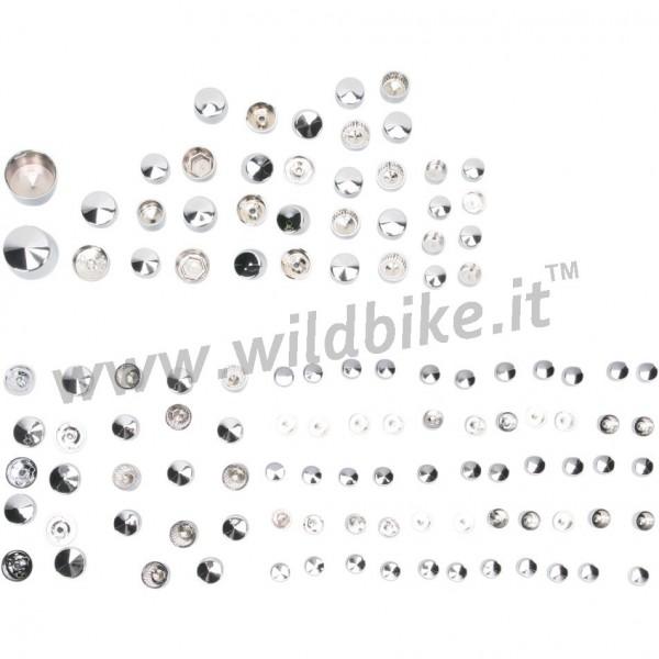 ABDECKUNG Schraubensätze DE LUXE 116 STKCHROM HARLEY