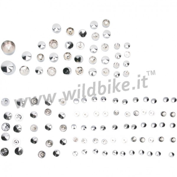 BOLT COVER KITS DE LUXE 116 PCS CHROME HARLEY DAVIDSON FLH