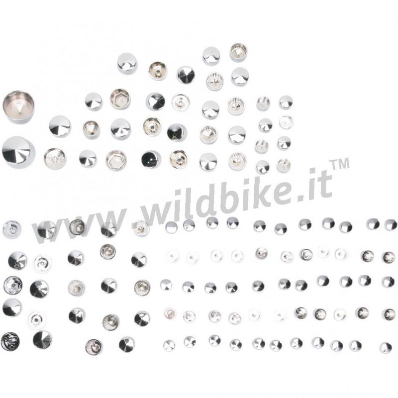 COPERTURE COPRI BULLONI KIT DE LUXE 116 PZ CROMATI HARLEY
