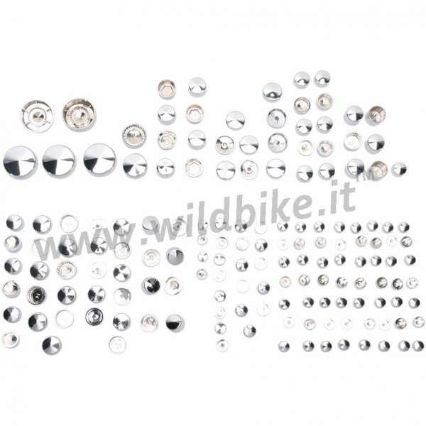 BOLT COVER KITS DE LUXE CHROME HARLEY DAVIDSON FXD DYNA