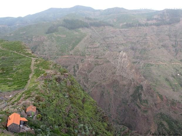Chipude - Pavón - La Fortaleza - La Gomera - barranco de erque