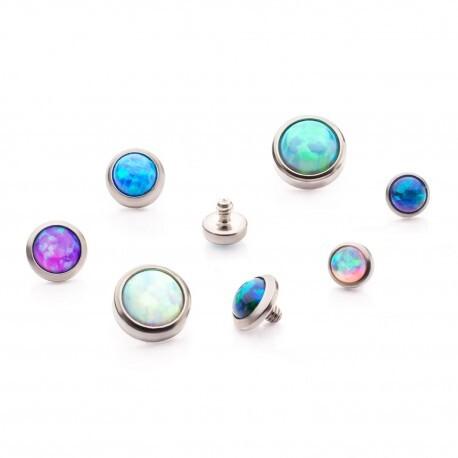 Invictus Titanium Bezel Set Opal Disc