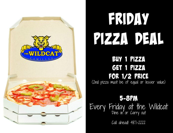 WC Friday Pizza Special 700
