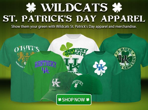 Show them your green with Kentucky Wildcat St. Patrick's Day apparel