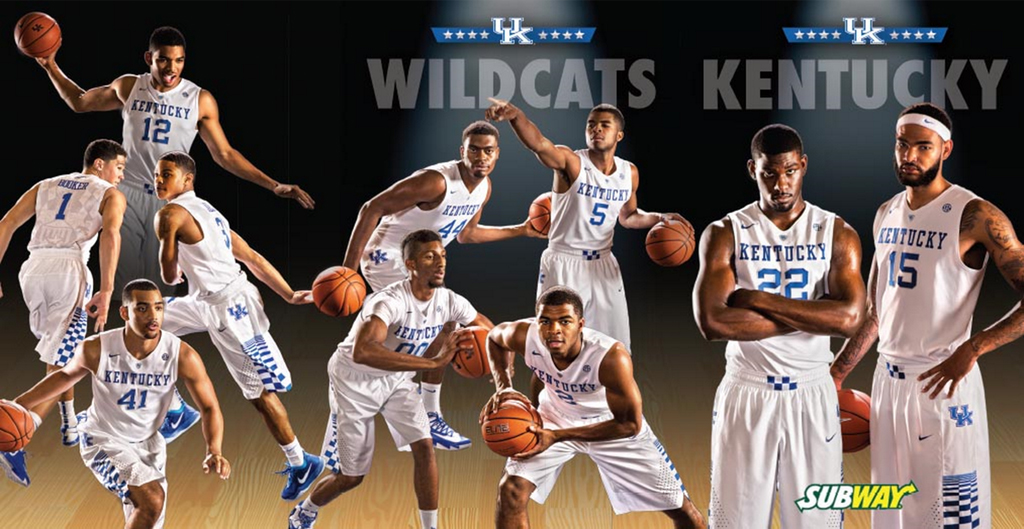 Kentucky basketball posters, schedule cards available throughout Kentucky