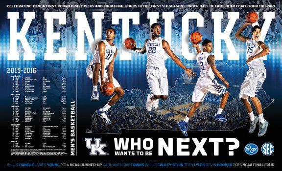 Kentucky Basketball Poster