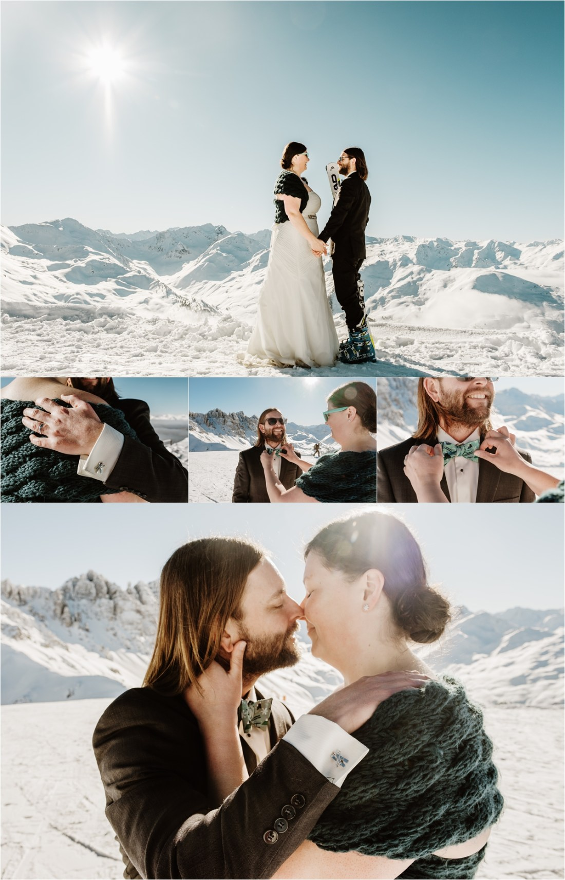 Abby & Jeff get married at the top of Axamer Lizum by Wild Connections Photography