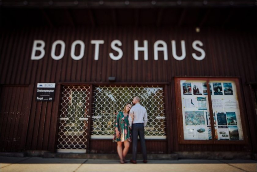 Melanie & Jesse in front of the Bootshaus in Pertisau