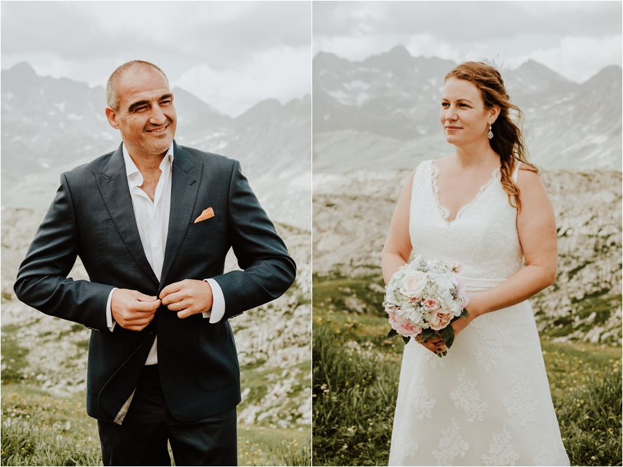 Portraits of the bride and groom in Lech Austria Image by Wild Connections Photography