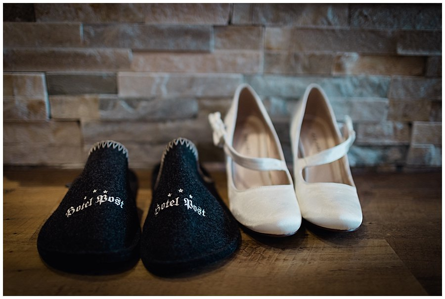 Hotel Post Westendorf hotel slippers and bridesmaids shoes