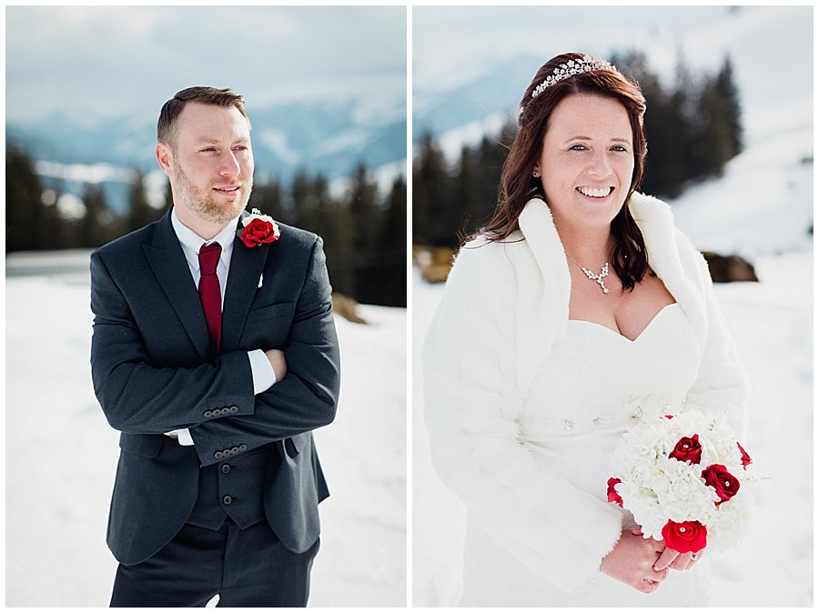 Individual portraits of Wayne and Michelle
