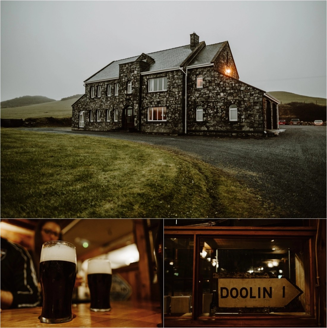 Pre-Wedding drinks in Doolon Ireland. Photos by Europe Elopement Photographer Wild Connections Photography