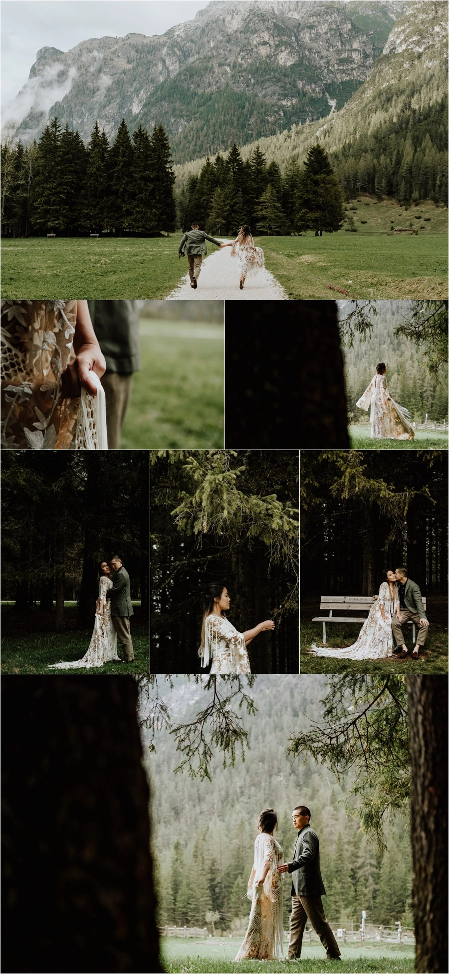 Adventure session pre-wedding in the Dolomites by Wild Connections Photography