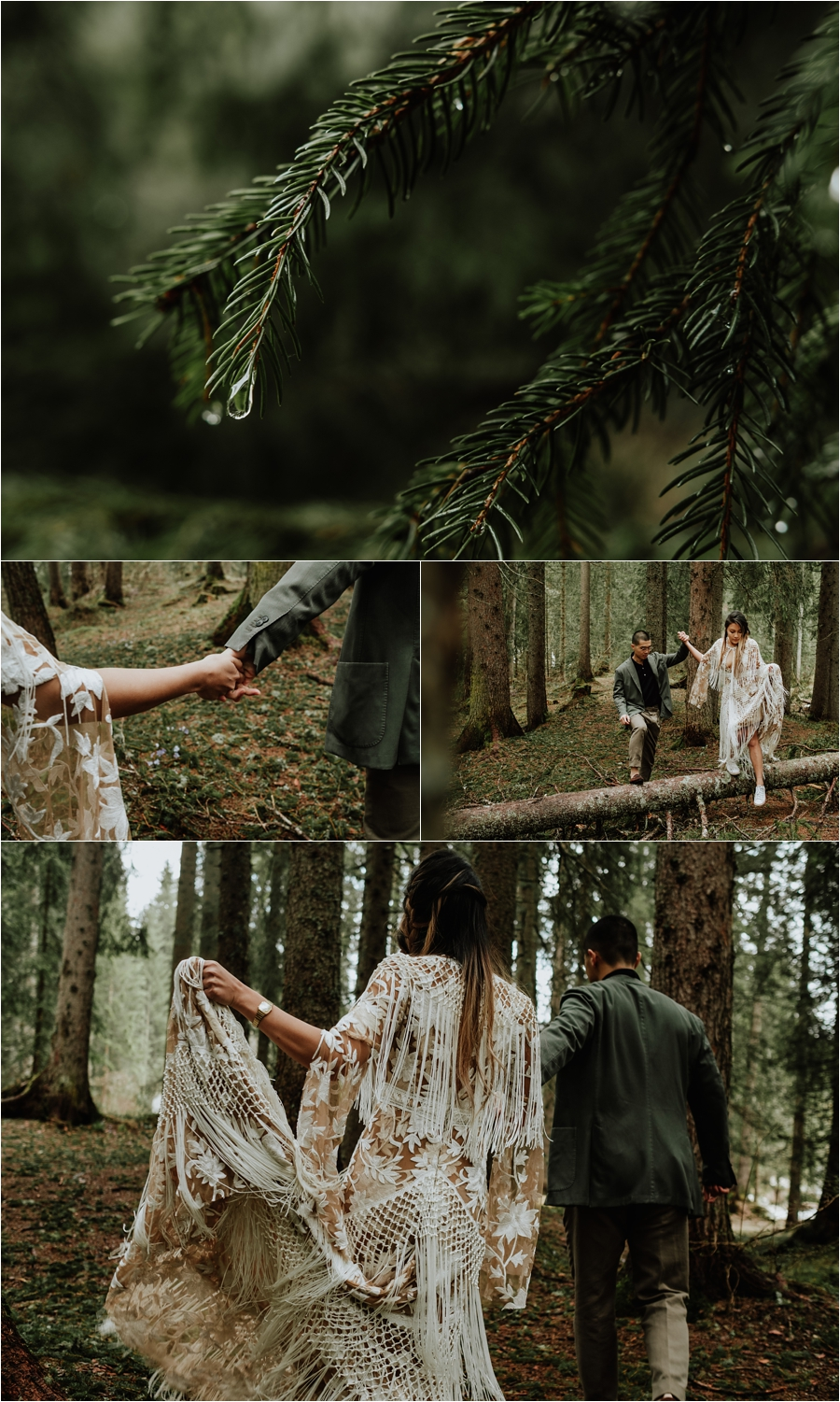 Exploring the forests in the Dolomites - A pre-wedding engagement shoot by Wild Connections Photography