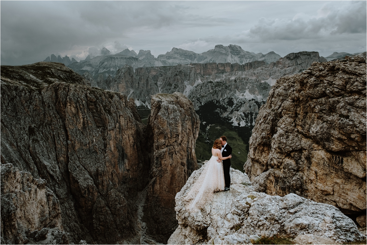A climbing elopement in the Dolomite mountains of Italy. https://rifugiokostner.it/en