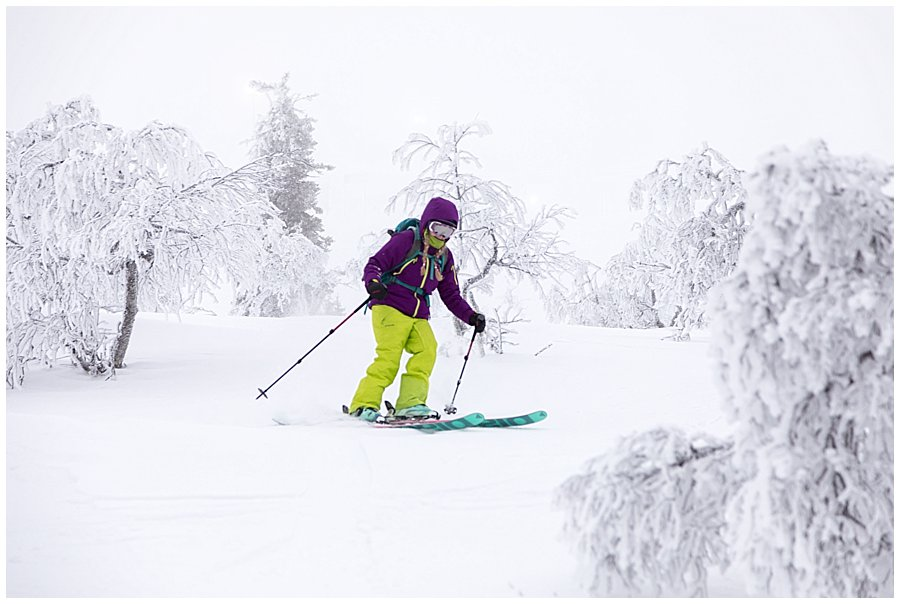 Levi Ski Resort Cat skiing off-piste in Levi Lapland by Wild Connections Photography