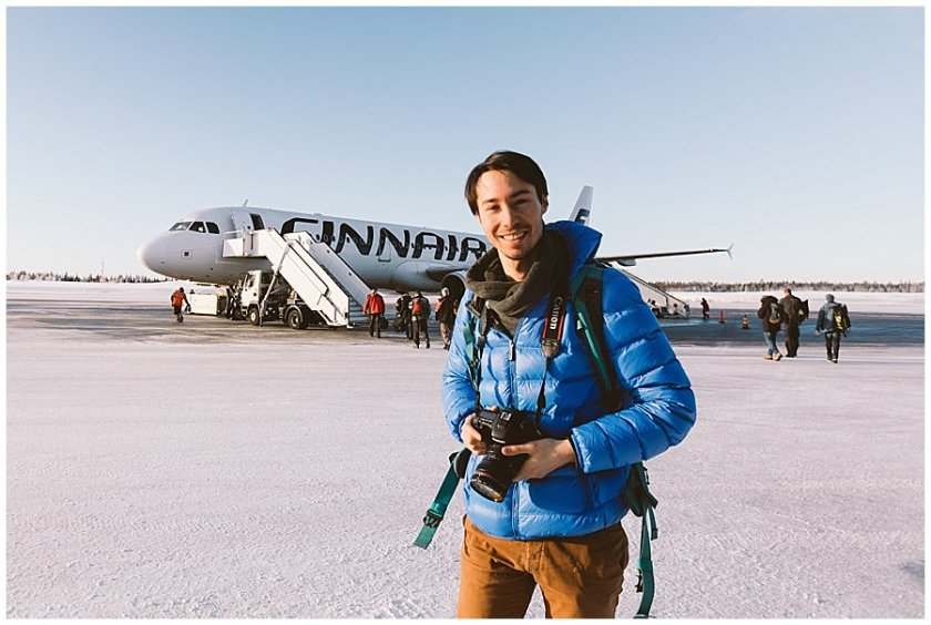 Finnair Lapland Menno smiles at the camera after an amazing romantic getaway in Finnish Lapland
