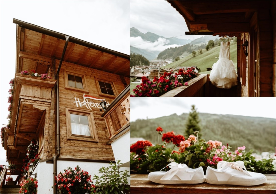 Hottererhof hotel in Gerlos Austria wedding preparations. Photos by Wild Connections Photography