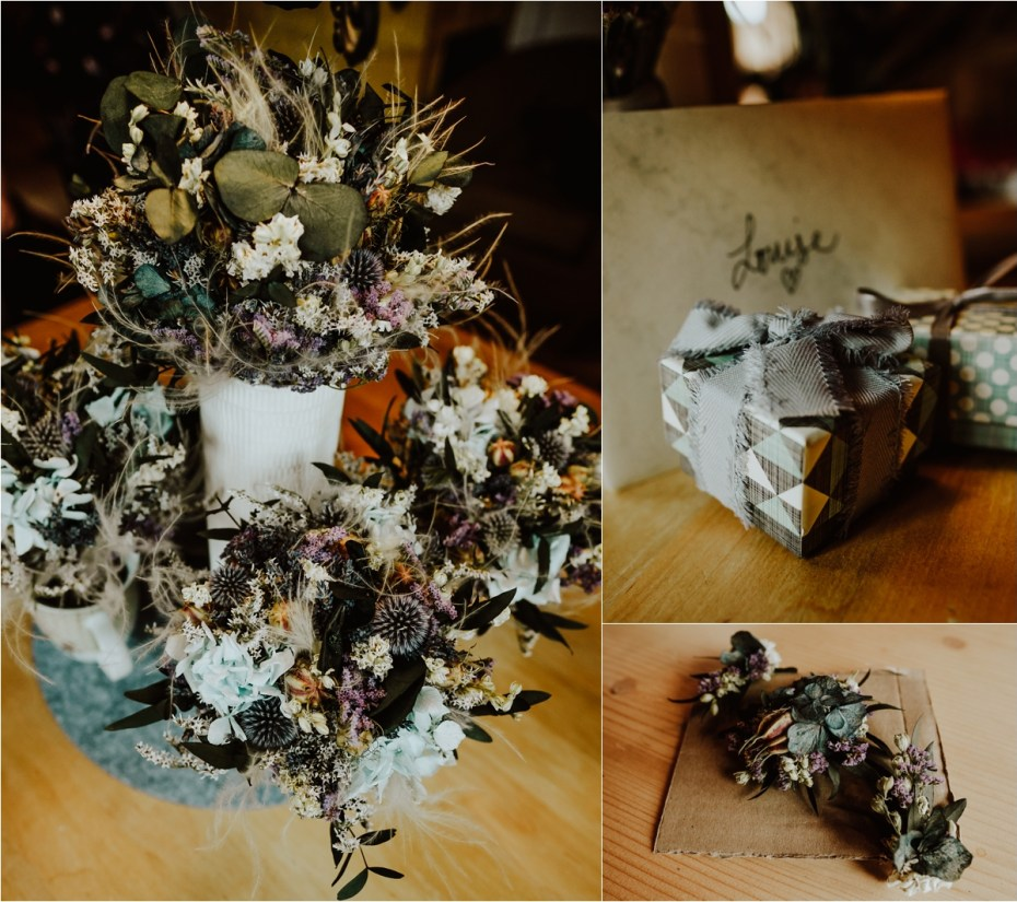 Dried flowers for a mountain wedding in Austria by Wild Connections Photography