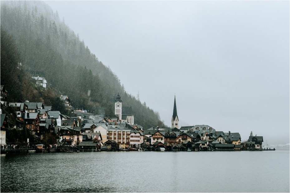 Hallstatt Austria in the rain. Photos by Wild Connections Photography