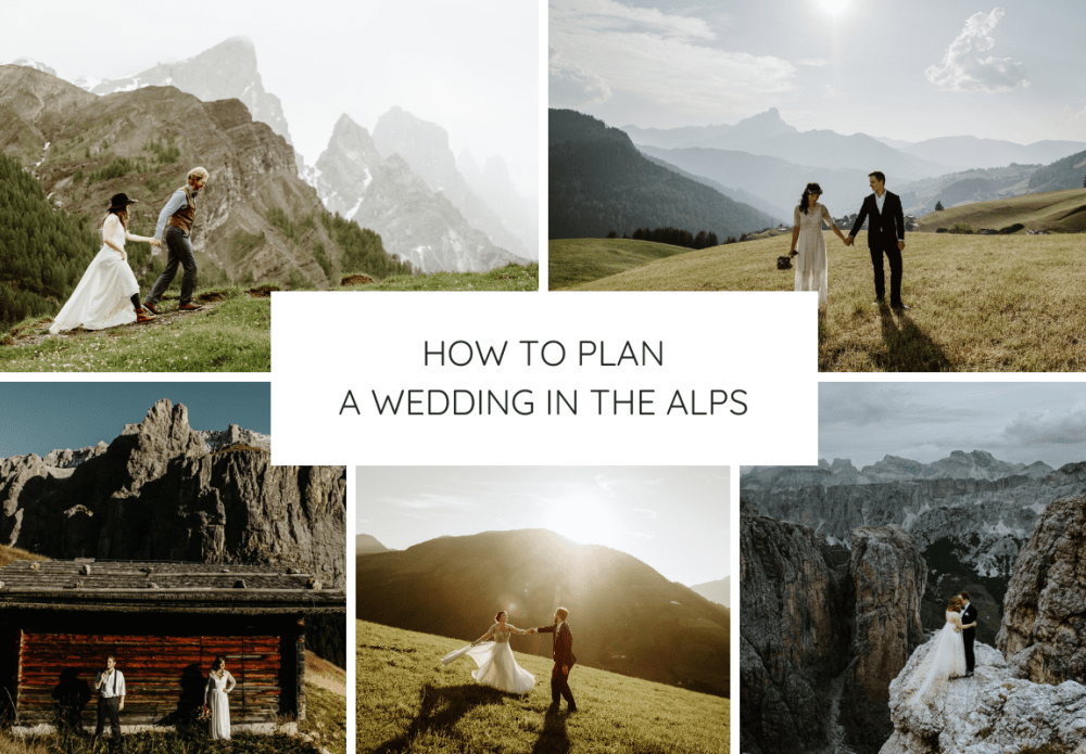how to plan a wedding in the alps graphic