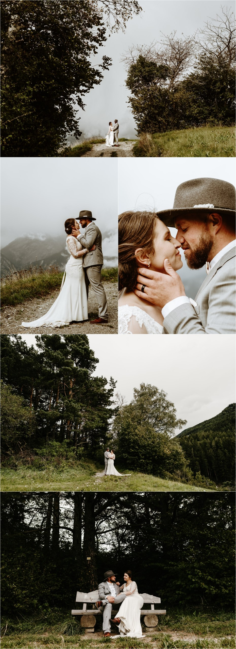 An intimate elopement in Innsbruck. Photos by Wild Connections Photography