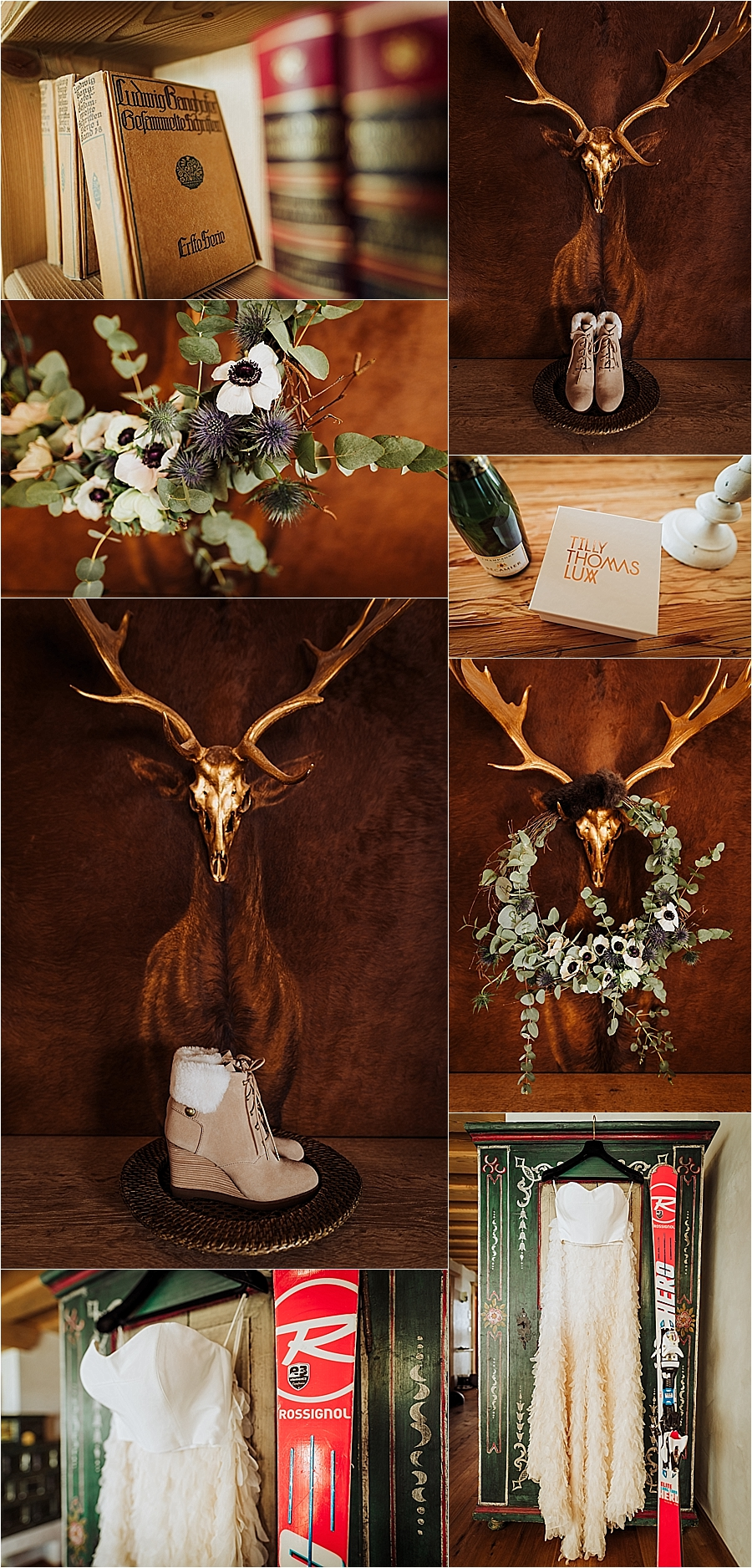 Alpine themed details for this winter wedding in the Kitzbühler Alps by Wild Connections Photography