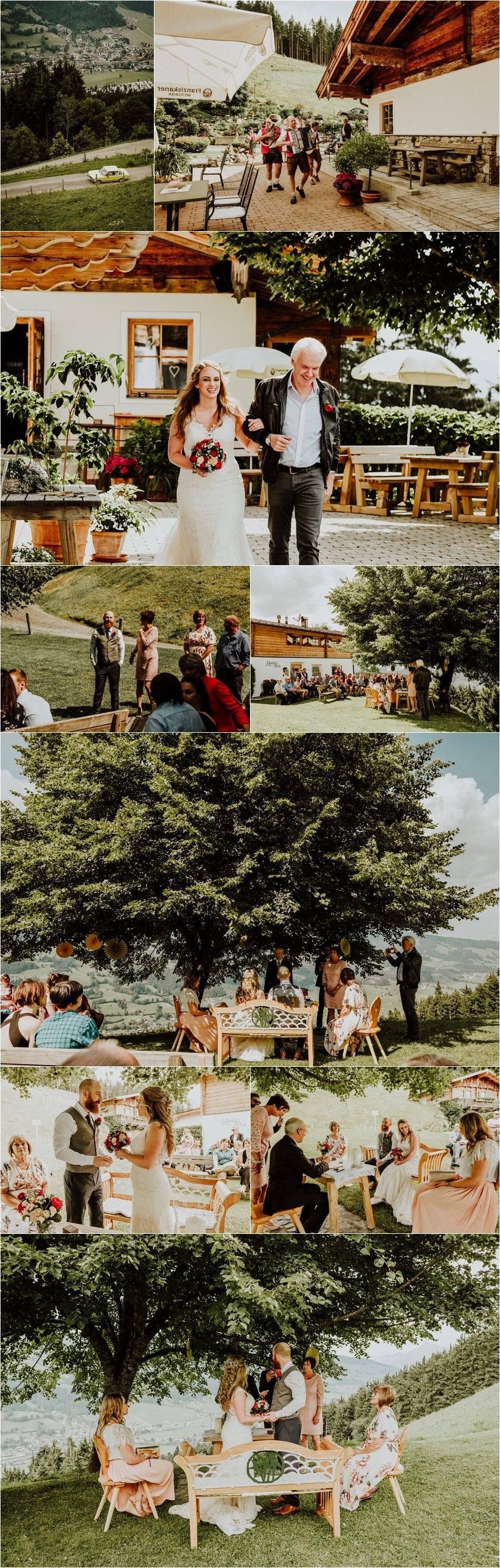 A mountain wedding ceremony at the Kandleralm in Brixen Austria by Wild Connections Photography