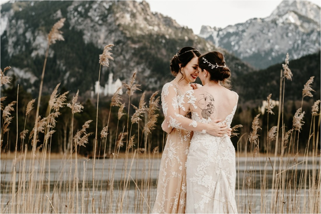 Neuschwanstein castle wedding in Bavaria Germany by Wild Connections Photography