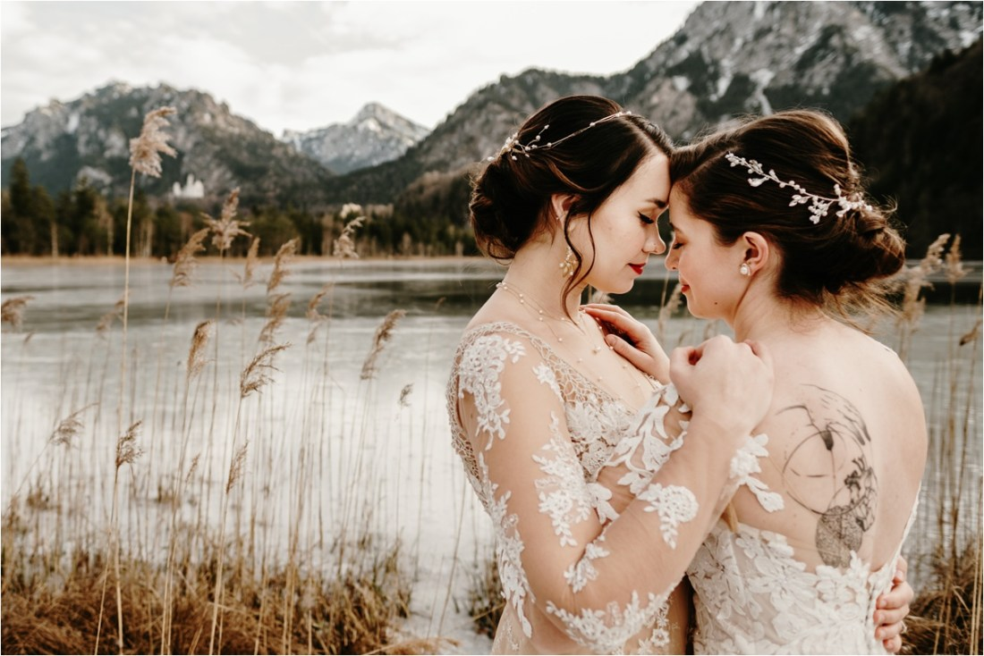Schloss Neuschwanstein LGBTQ elopement wedding by Wild Connections Photography