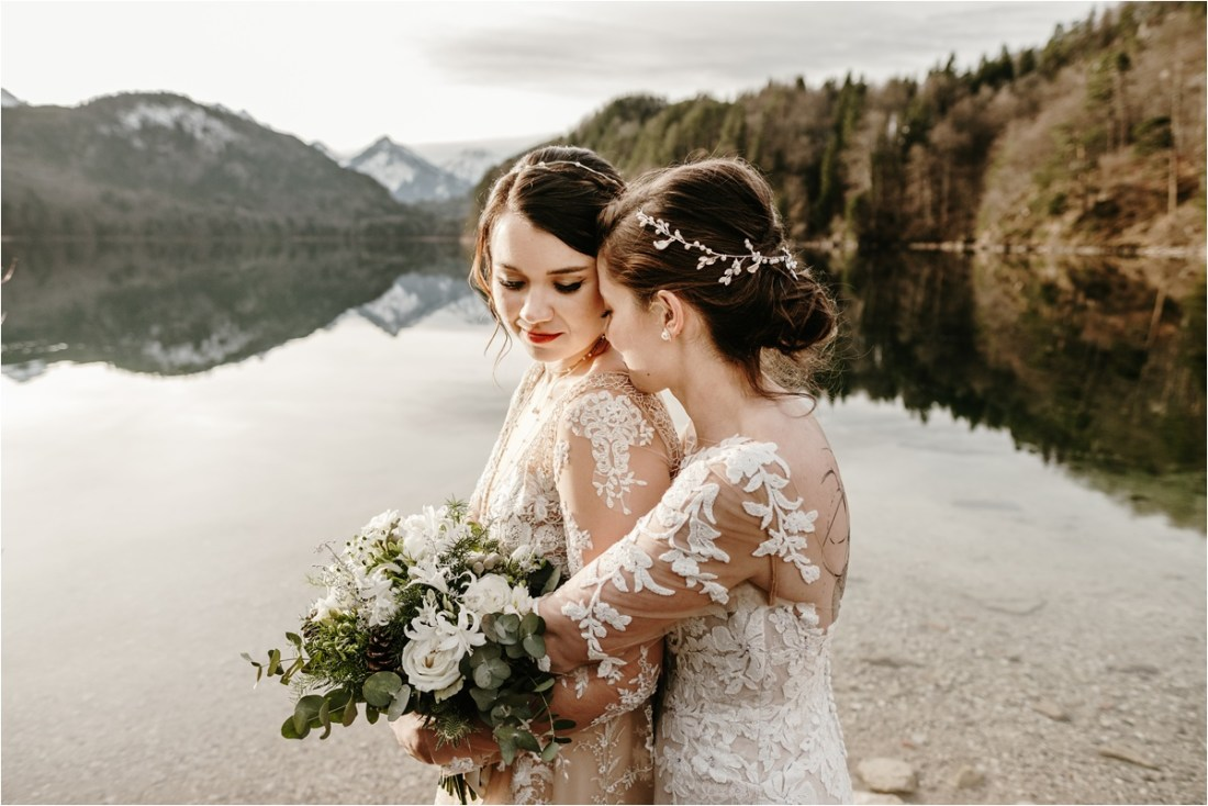 Lesbian elopement wedding in Europe by Wild Connections Photography