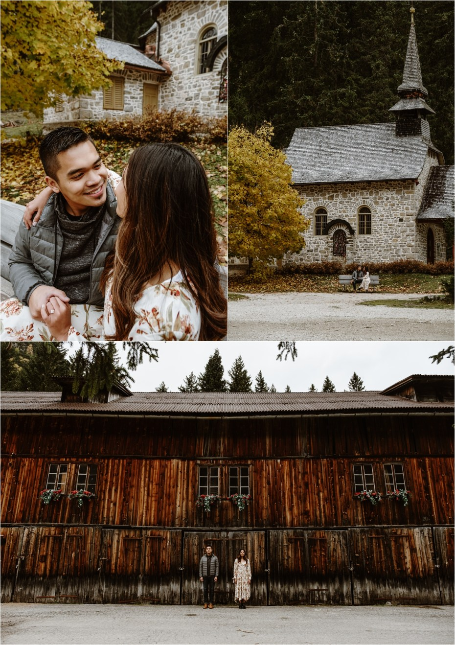 Engagement photos at Pragser Wildsee. Photos by Wild Connections Photography.