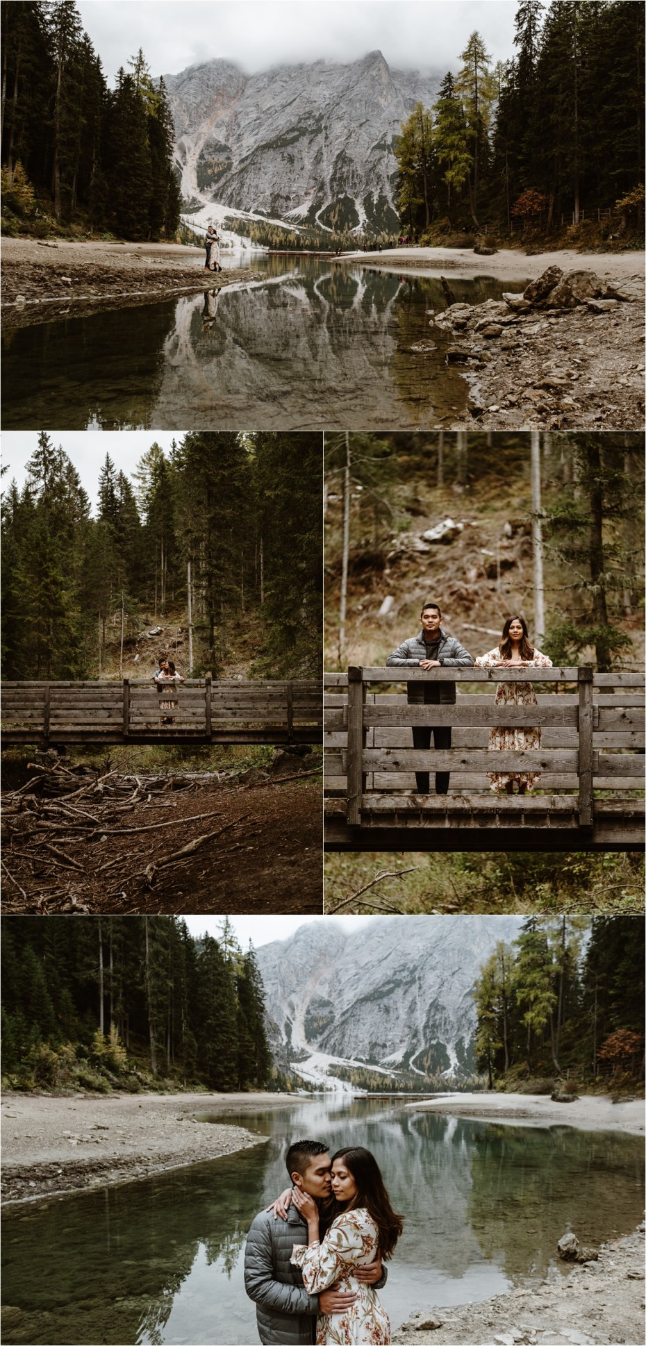 Lago di Braies engagement shoot with Jeremy & Katrina. Photos by Wild Connections Photography.