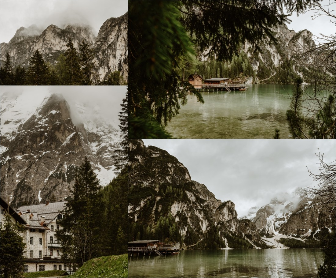 A cloudy morning at Lake Braies in the Italian Alps. Photo by Wild Connections Photography